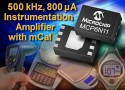 MCP6N11, amplificatore low-power ad alta precisione da Microchip